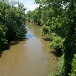 The Pacolet River from the highway bridge in 2009