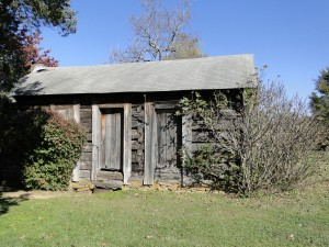 Goudelock Cabin as it appeared in 2012.  Moved from its original location - this is the cabin Gen. Sumter was nursed in after his wound at Blackstocks.